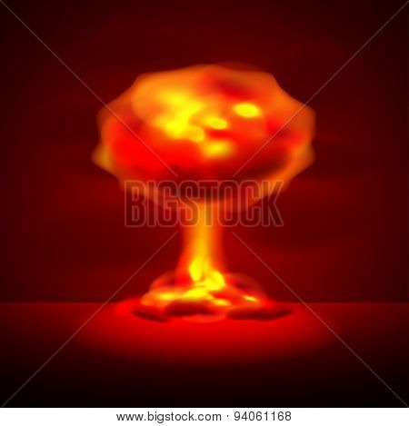 Nuclear Explosion Vector Background