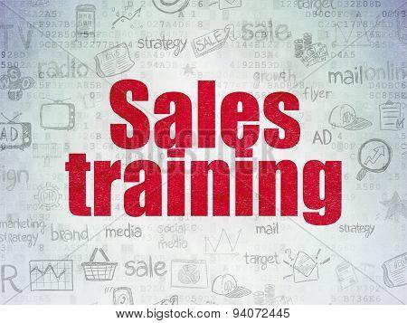 Marketing concept: Sales Training on Digital Paper background