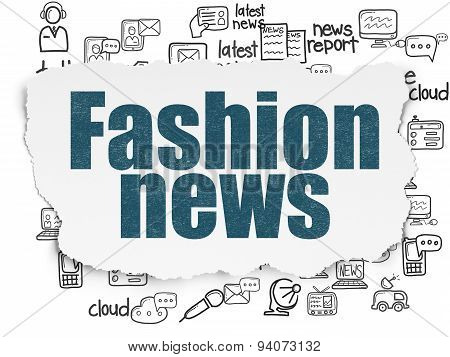 News concept: Fashion News on Torn Paper background