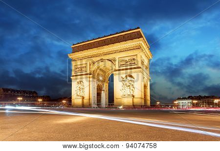 Paris, Arc De Triumph, France