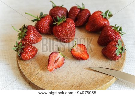 Big Ripe Strawberries