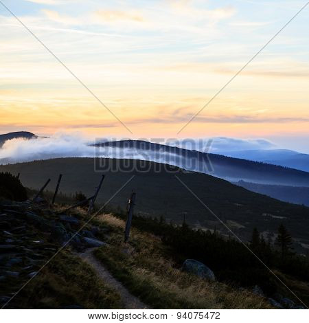 Inspirational Mountains Landscape Sunset