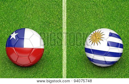 2015 soccer tournament, teams Chile vs Uruguay