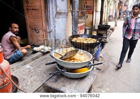 Street Restaurant, Rajasthan, India