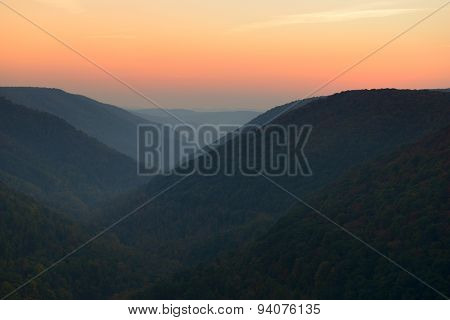 West Virginia Mountains in Autumn