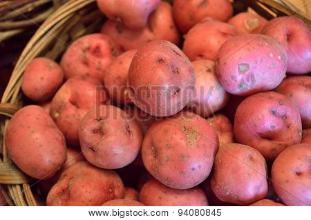 Red New Potatoes In A Basket
