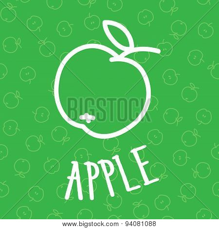 Handdraw Apple Seamless Background