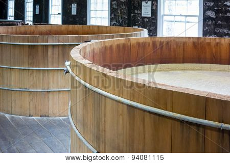 Bourbon Mash Tanks Top View