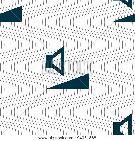 Volume, Sound  Icon Sign. Seamless Pattern With Geometric Texture. Vector