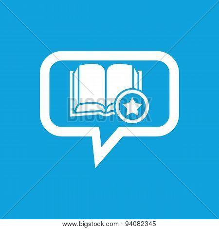 Favorite book message icon