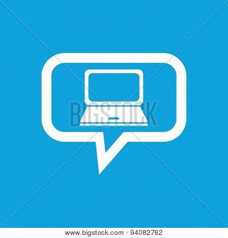 Laptop message icon