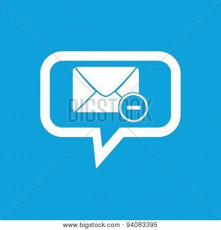 Remove letter message icon