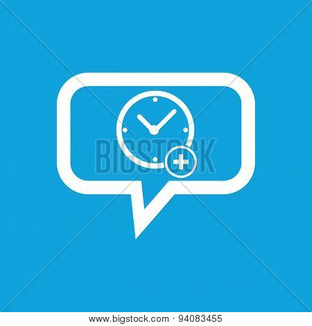 Add time message icon