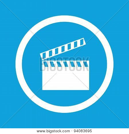 Clapperboard sign icon