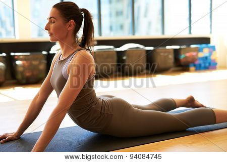 Good Looking Female In Gym