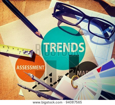 Trends Assessment Market Fashion Contemporary Concept