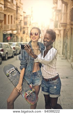 Two friends doing a selfie