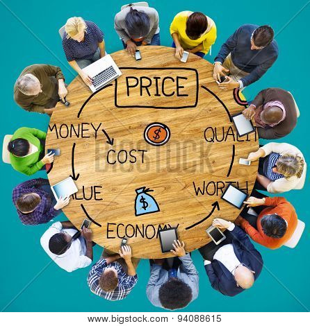 Price Economy Money Cost Value Worth Concept