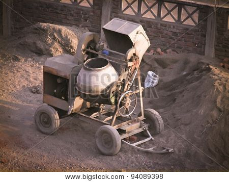 Cement concrete Mixing drum. Pune Maharashtra India