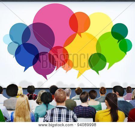 Speech Bubbles Message Concept Symbol Communication Idea Concept