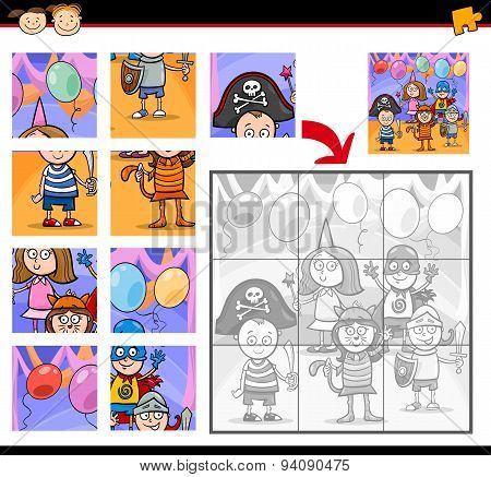 Kids Masked Ball Jigsaw Puzzle Game