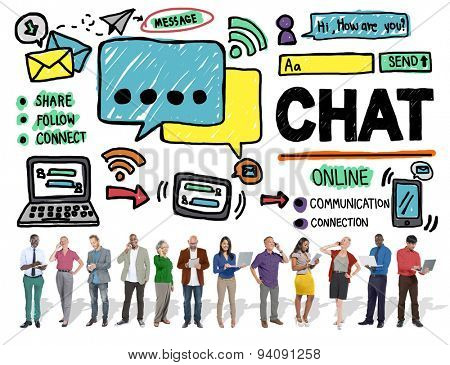 Chat Chatting Communication Social Media Internet Concept