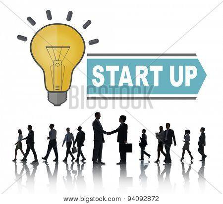 Start up Ideas Thinking Creative Begin Concept