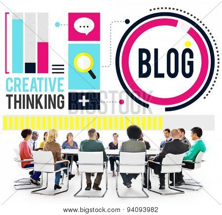 Blog Blogging Media Messaging Social Network Media Concept