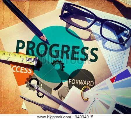 Progress Growth Development Improvement Concept