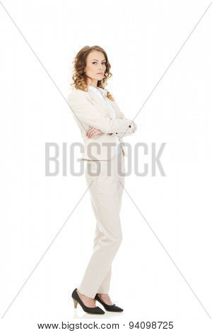 Beautiful confident businesswoman in suit.