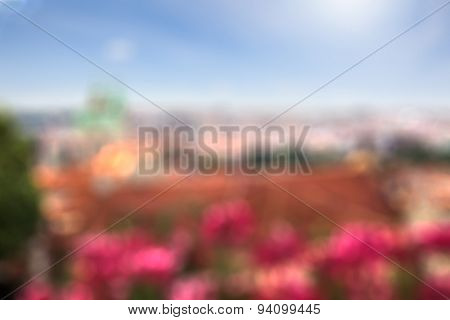 Blurred background - Prague in summer, natural bokeh