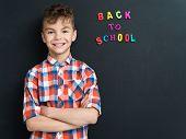 stock photo of schoolboys  - Education concept - JPG