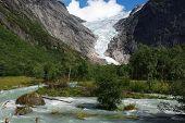 Glacier Briksdale In Norway, Europe poster