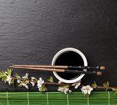 pic of soy sauce  - Japanese sushi chopsticks - JPG
