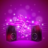 foto of subwoofer  - Speakers on colorful blur background photo realistic vector - JPG
