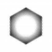 stock photo of hexagon  - Hexagon halftone - JPG