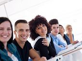 picture of classroom  - happy students group  study in classroom - JPG
