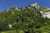 foto of castle  - Walls of Castle of Sintra - JPG