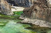image of volcanic  - Swimming natural pools of volcanic lava in Porto Moniz - JPG