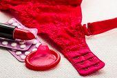 stock photo of oral  - Healthcare medicine contraception and birth control - JPG