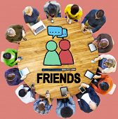 pic of comrades  - Friends Group People Social Media Loyalty Concept - JPG