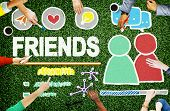 stock photo of comrades  - Friends Group People Social Media Loyalty Concept - JPG