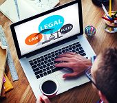 stock photo of justice law  - Legal Law Rules Community Justice Social Gathering Concept - JPG