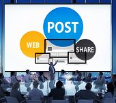 stock photo of announcement  - Post Web Share Announce Reminder List Remember Concept - JPG