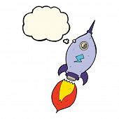foto of spaceships  - cartoon spaceship with thought bubble - JPG