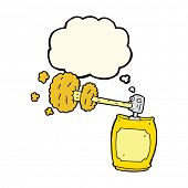 stock photo of spray can  - cartoon spray can with thought bubble - JPG