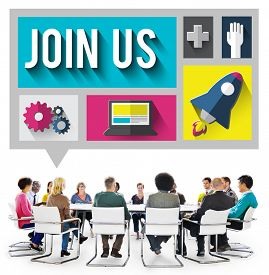 picture of joining  - Join Us Member Corporate Support Team Unity Concept - JPG