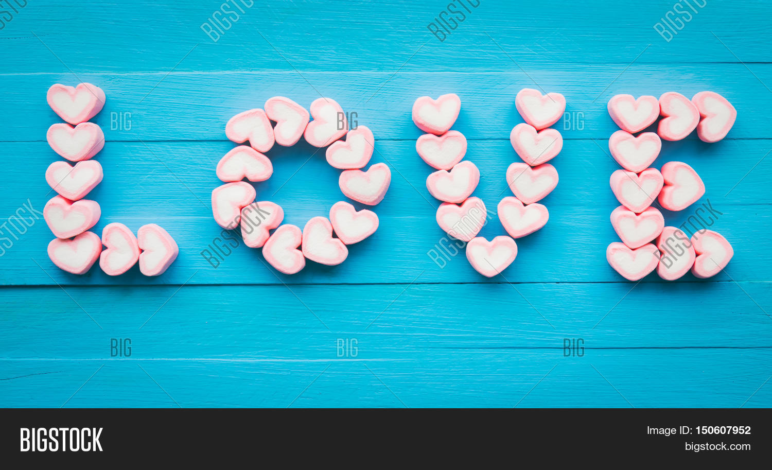 Pink heart shape marshmallow for love theme and valentine for Love theme images
