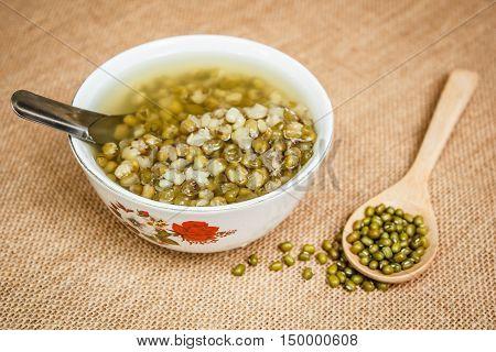 Green Beans In Syrup (thai Dessert)
