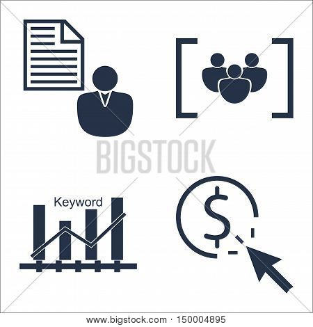 Set Of Seo, Marketing And Advertising Icons On Pay Per Click, Client Brief, Keyword Ranking And More
